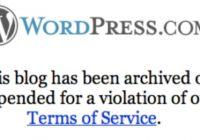Wordpress Blog Silindi